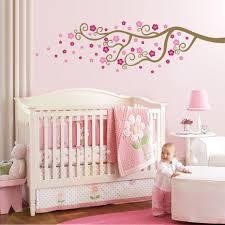 Baby Nursery Decor Bedroom Diy White Wood Nursery Design Monochromatic Pattern Pink