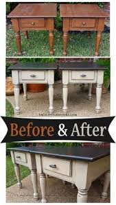 end tables for bedroom. end tables in distressed black \u0026 oatmeal - before after for bedroom g