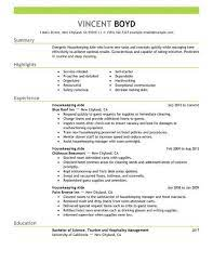 & abroad, with free cv database. Housekeeping Aide Resume Example No Experience Resumes Livecareer