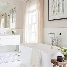 white and pink romantic bathroom design