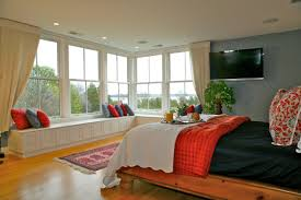 Homes With Big Windows The Master Bedroom Suite Features Large - Bedroom windows