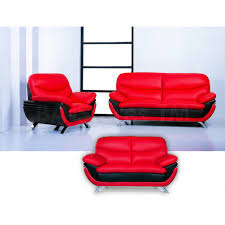 Red Leather Living Room Sets Jonus Living Room Set Italian Black And Red Leather Sofa