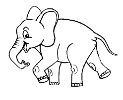 Print Download Teaching Kids Through Elephant Coloring Pages