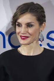 queen letizia of spain added a heavy dose of glamour with a pair of diamond and diamond chandelier earrings
