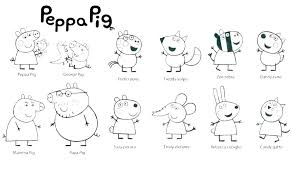 peppa pig printable coloring pages