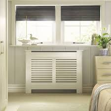 New Suffolk Medium White Painted Radiator Cover | Departments | DIY at B&Q