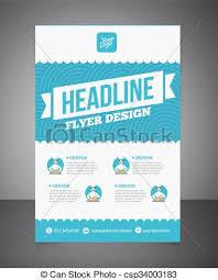 Design Brochure Template Business Brochure Or Offer Flyer Design Template Brochure Design Blank Print Design Flyer With Text Flyer Template Business Brochure Background