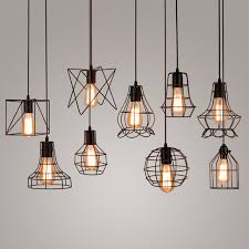 vintage metal cage pendant light hanging lamp edison bulb lighting fixture new loft pendant lamps