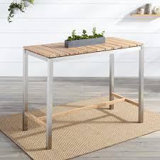 macon rectangular teak bar table  whitewash  outdoor