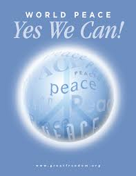 world peace yes we can the book cover