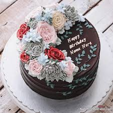 Birthday Cake For Sister With Name Editor Online Free