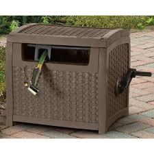 suncast garden water hose reel cart hideaway storage cover box 175 ft patio yard suncast