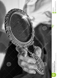 hand holding mirror. Download Woman Hand Holding A Mirror In Black And White Stock Photo - Image  Of Person Hand Holding Mirror M