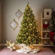 7-foot Pre-lit Artificial Christmas Tree w/Clear or Multicolor Bulbs - Free  Shipping Today - Overstock.com - 17682051