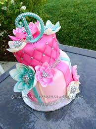 Delicious Homemade Beautiful Birthday Cake With Bling 13 Birthday