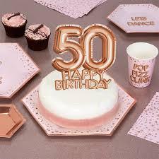 Glitz Glamour 50th Birthday Cake Topper