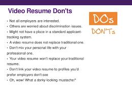 Video Resume Tips Sample Video Resume Magdalene Project Org