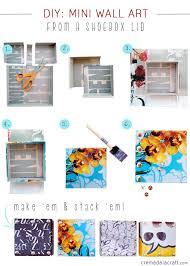 shoebox lids diy wall art diy crafts