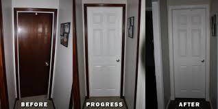 should baseboard always be painted light via in general dark trim over white doors