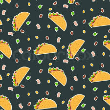 dark cute pattern wallpaper. Contemporary Dark Cute Cartoon Contrast Vector Mexican Tacos Pattern On Dark Background Nice  Bright Fastfood For Textile Cafe And Restaurant Wrapping Paper Covers  And Dark Pattern Wallpaper S