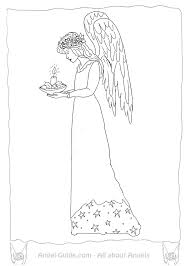 Small Picture Coloring Pages Angels Christmas Candle Light from our Christmas