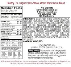 Wheat Bread Nutrition Facts Ruidai With Wheat Bread Food Label