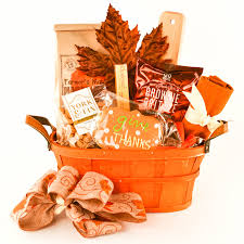 fall gift basket featuring pumpkin toffee quick bread mix yum