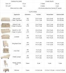 Slipcover Price Chart Image Result For Slipcover Yardage Chart Fabric Decor