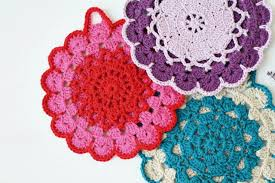 Crochet Potholder Patterns Simple My Rose Valley NEW PATTERN The Vintage Crochet Potholder Pattern