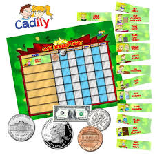 Chore Chart With Money Reward Magnetic Cash Reward Chart For Kids