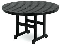 plastic outdoor table la cafe recycled round dining with umbrella hole outside and chairs plastic outdoor table