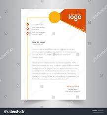 College Letterhead Design Creative Letterhead Design Orange Yellow Design Stock Vector