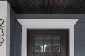 exterior front door trim molding. new front door with crown molding! traditional-veranda exterior trim molding