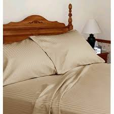 details about egyptian cotton 1000 thread count superior bedding all uk sizes taupe striped