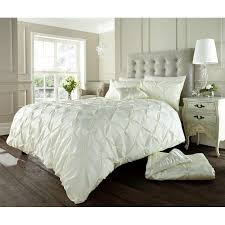 alford designer pintuck duvet cream