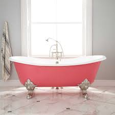 double slipper tubs are raised on both ends for comfortable reclining at either side depending on the length of the tub this style can accommodate two