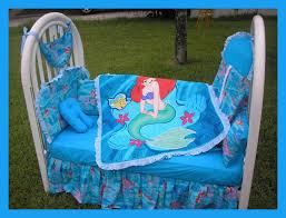 little mermaid baby blanket blue
