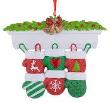 Aliexpresscom Kaminsims Handschuhe Familie Von 6 Polyresin Weihnachten Personalisierte Ornamente Für Geschenke Dekoration Von Verlässlichen Family
