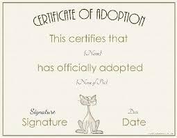 Birth Certificate Template Word Classy Template For Cat Birth Certificate Customcartoonbakery