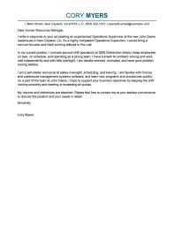 Warehouse Manager Cover Letter Job And Resume Template
