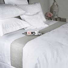 300tc wave pattern white bedding set