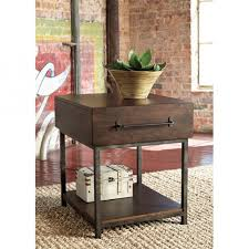 rectangle end table. Signature Design By Ashley Starmore Wood Rectangular End Table In Brown T913-3 Rectangle R