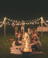 backyard party lighting. dinner parties concerts and retreats in our home s style for your bohemian venue setting sit at a long table on the lawn backyard party lighting d