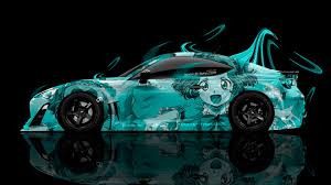 toyota gt 86 tuning flowers car