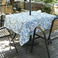 fashion paisley zipper tablecloth outdoor square round waterproof table cloth umbrella hole cover with