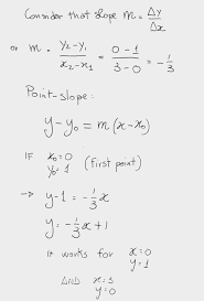 how do you write in point slope form the equation of the line