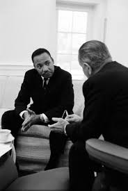 lbjs office president. Martin Luther King And President Lyndon Johnson At The White House In 1963 Lbjs Office