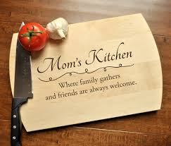 Kitchen Gift For Mom Personalized Cutting Board Engraved Cutting Board Custom