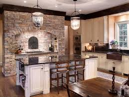 rustic country kitchens with white cabinets. Nice Stone Work Surround Combined With Cream Glazed Cabinets. From Zillow Digs Rustic Kitchens Country White Cabinets F