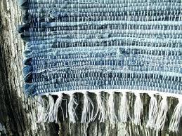 blue jean rug denim rag bunkhouse blues runner woven jeans sheepskin